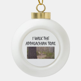 ABH Appalachian Trail Ceramic Ball Christmas Ornament