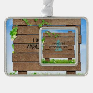 ABH Appalachian Trail Hiker Silver Plated Framed Ornament
