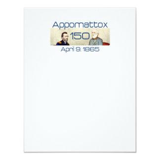 ABH Appomattox 150 Invitación 10,8 X 13,9 Cm