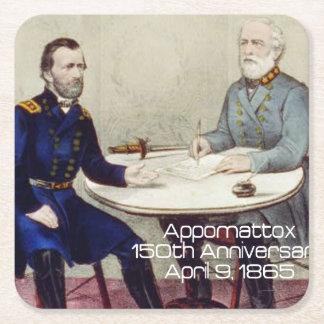 ABH Appomattox 150 Square Paper Coaster