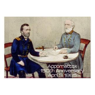 ABH Appomattox 150 Tarjetas De Visita Grandes