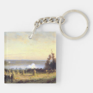ABH Ball's Bluff Double-Sided Square Acrylic Keychain