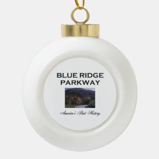 ABH Blue Ridge Parkway Ceramic Ball Christmas Ornament