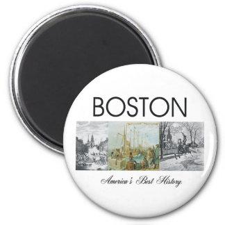 ABH Boston 2 Inch Round Magnet