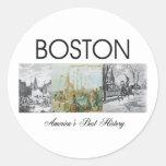 ABH Boston Etiquetas Redondas
