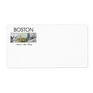 ABH Boston Personalized Shipping Label
