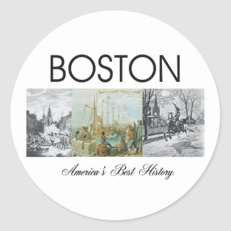 ABH Boston Classic Round Sticker