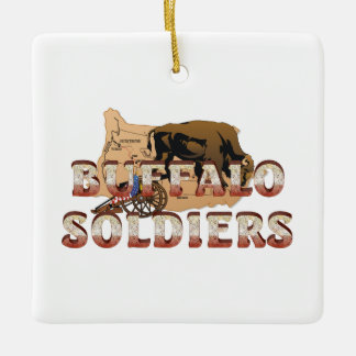ABH Buffalo Soldiers Ceramic Ornament
