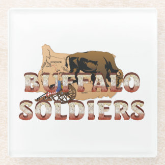 ABH Buffalo Soldiers Glass Coaster