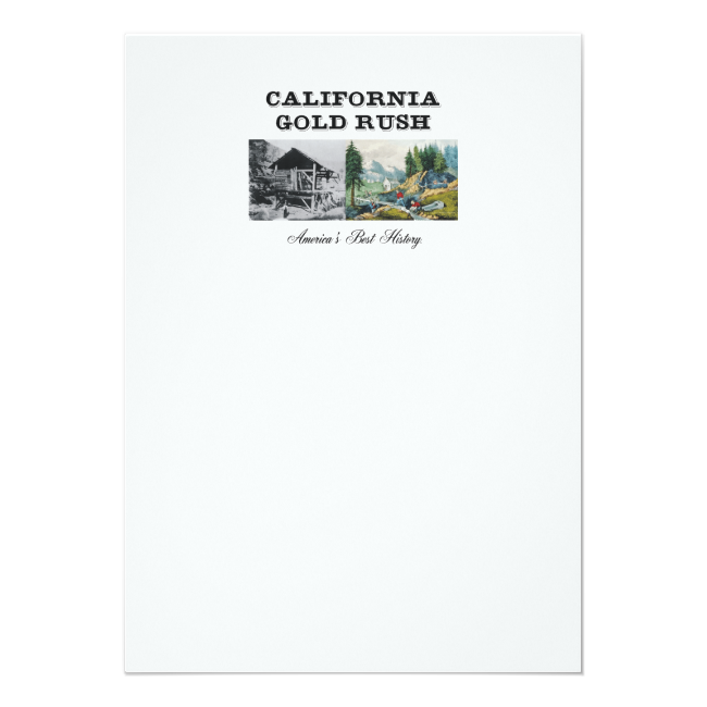 ABH California Gold Rush 5x7 Paper Invitation Card