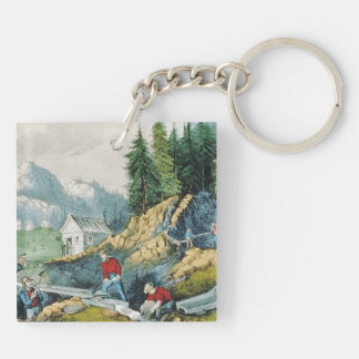 ABH California Gold Rush Double-Sided Square Acrylic Keychain