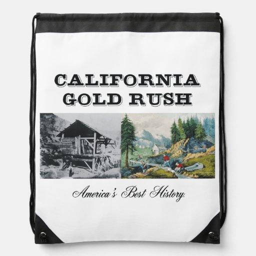 ABH California Gold Rush Drawstring Backpacks