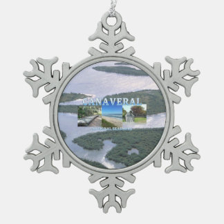 ABH Canaveral NS Snowflake Pewter Christmas Ornament