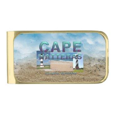 Beach Themed ABH Cape Hatteras Gold Finish Money Clip