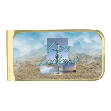 Beach Themed ABH Cape Lookout NS Gold Finish Money Clip