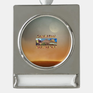 ABH Capitol Reef Silver Plated Banner Ornament