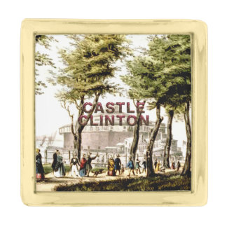 ABH Castle Clinton Gold Finish Lapel Pin