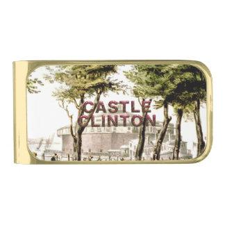 ABH Castle Clinton Gold Finish Money Clip