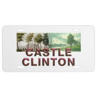 ABH Castle Clinton License Plate