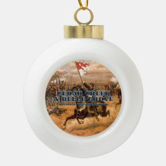 ABH Cedar Creek Ceramic Ball Christmas Ornament