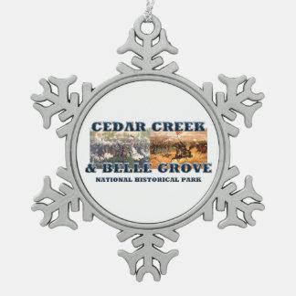 ABH Cedar Creek Snowflake Pewter Christmas Ornament