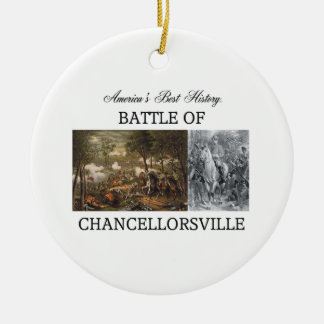 ABH Chancellorsville Double-Sided Ceramic Round Christmas Ornament