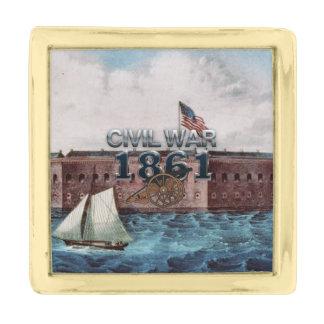 ABH Civil War 1861 Gold Finish Lapel Pin