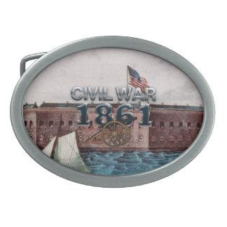 ABH Civil War 1861 Oval Belt Buckle