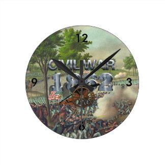 ABH Civil War 1862 Round Clock