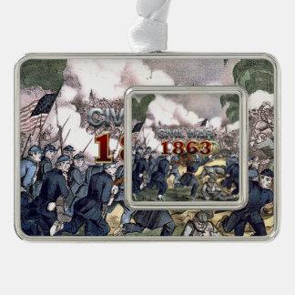 ABH Civil War 1863 Silver Plated Framed Ornament