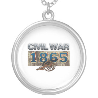 ABH Civil War 1865 Silver Plated Necklace