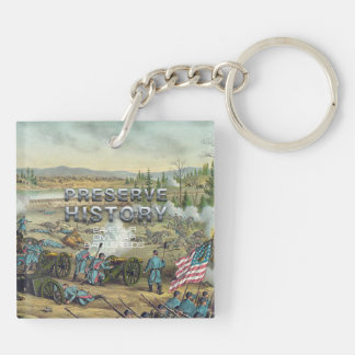 ABH Civil War Battlefield Preservation Double-Sided Square Acrylic Keychain