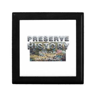 ABH Civil War Battlefield Preservation Jewelry Box