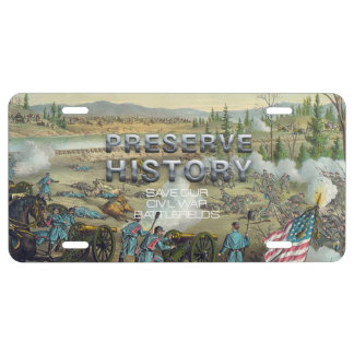 ABH Civil War Battlefield Preservation License Plate
