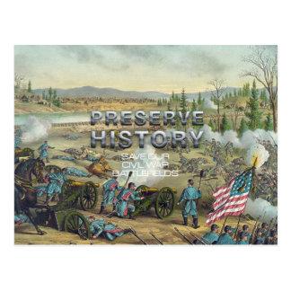 ABH Civil War Battlefield Preservation Postcard