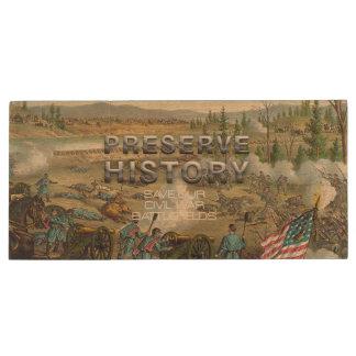 ABH Civil War Battlefield Preservation Wood Flash Drive