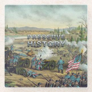 ABH Civil War Preservation Glass Coaster
