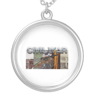 ABH Civil War Round Pendant Necklace