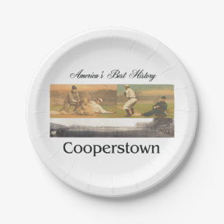ABH Cooperstown Paper Plate