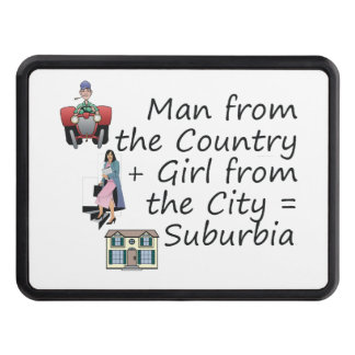 ABH Country Man City Girl Trailer Hitch Cover