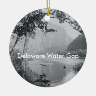 ABH Delaware Water Gap Double-Sided Ceramic Round Christmas Ornament