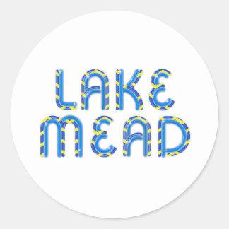 ABH el lago Mead Etiqueta Redonda