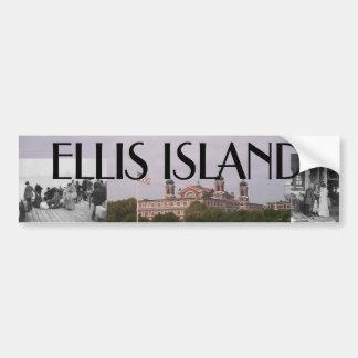 ABH Ellis Island Car Bumper Sticker