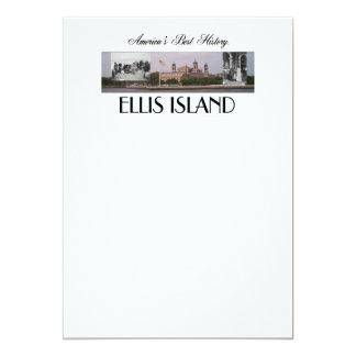 "ABH Ellis Island 5"" X 7"" Invitation Card"