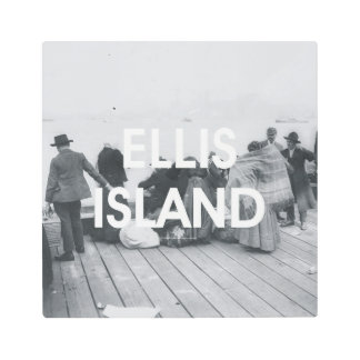 ABH Ellis Island Metal Photo Print