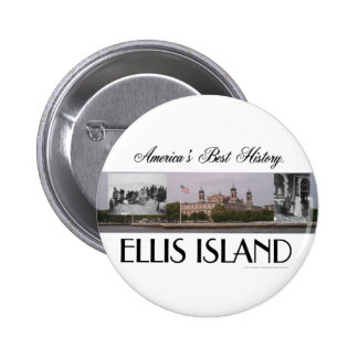 ABH Ellis Island Pinback Button