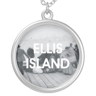 ABH Ellis Island Round Pendant Necklace