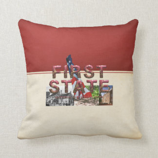 ABH First State Throw Pillow