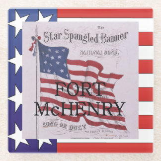 ABH Fort McHenry Glass Coaster