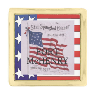 ABH Fort McHenry Gold Finish Lapel Pin